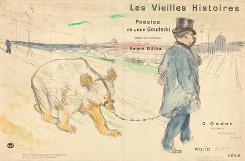 Art Prints of Les Vielles Histoires, 1893 by Henri de Toulouse-Lautrec