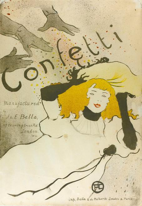 Art Prints of Confetti by Henri de Toulouse-Lautrec