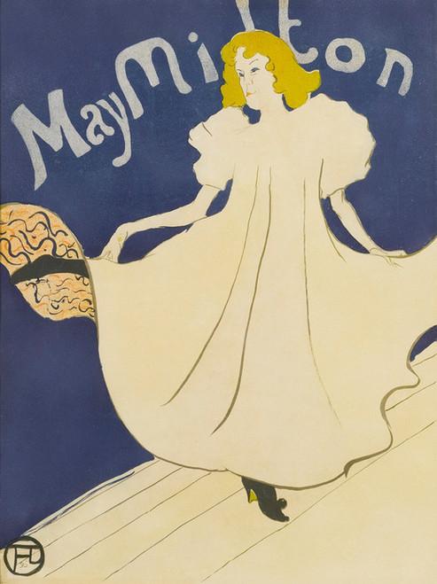 Art Prints of May Milton by Henri de Toulouse-Lautrec