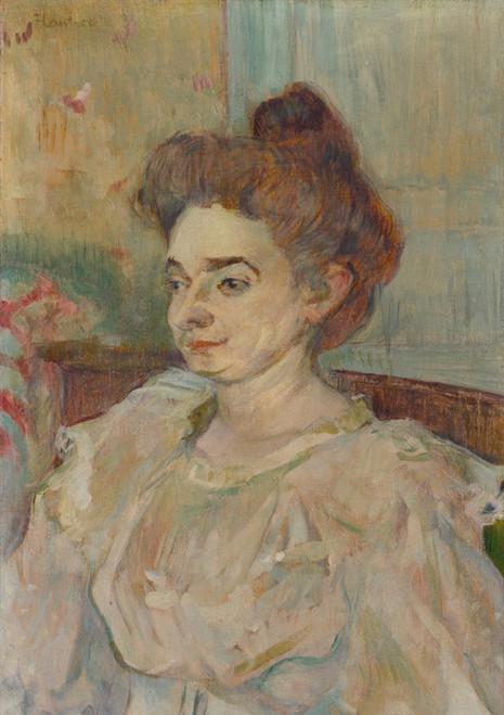 Art Prints of Portrait of Beatrice Tapie Celeyran by Henri de Toulouse-Lautrec