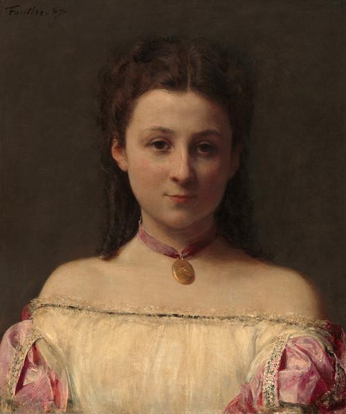 Art Prints of Mademoiselle de Fitz-James by Henri Fantin-Latour