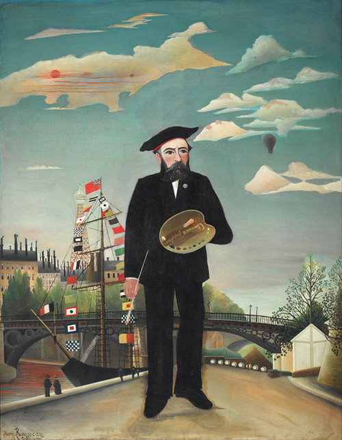 Art Prints of Myself, Landscape Portrait by Henri Rousseau