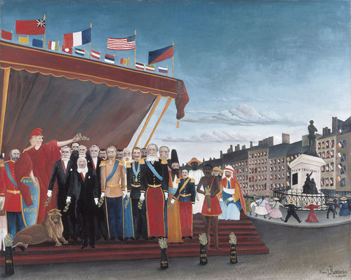 Art Prints of Foreign Powers Coming to Greet the Republic by Henri Rousseau