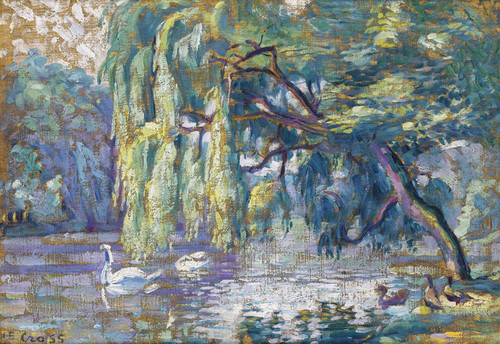 Art Prints of Family of Swans by Henri-Edmond Cross