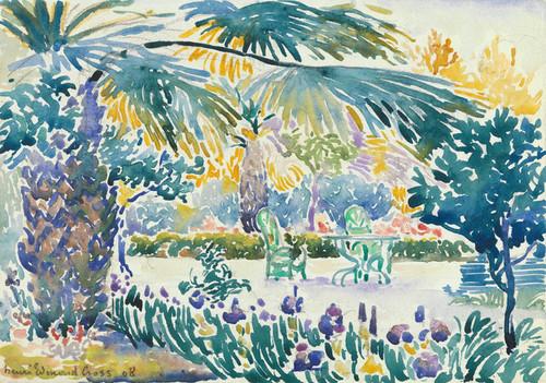 Art Prints of Garden of the Painter at Saint Clair by Henri-Edmond Cross
