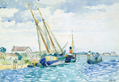 Art Prints of Marine Scene Near venice by Henri-Edmond Cross