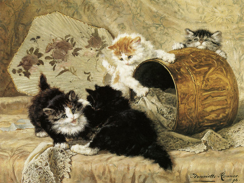 Art Prints of Kittens at Play, No. 4 by Henriette Ronner Knip