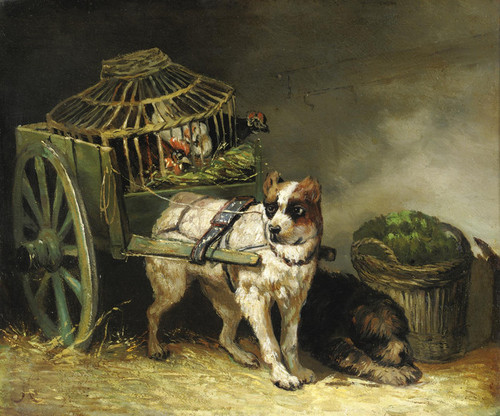 Art Prints of Pair of Hunting Dogs by Henriette Ronner Knip
