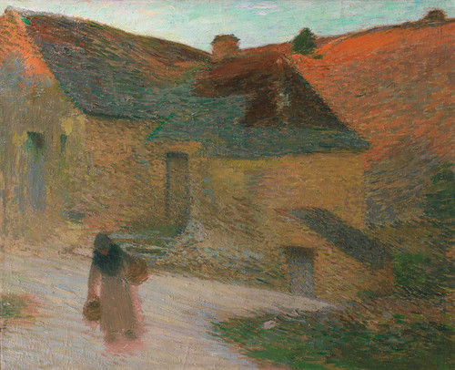 Art Prints of Last Rays on the Farm by Henri-Jean Guillaume Martin