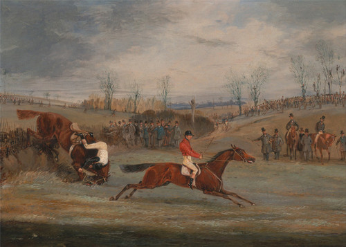 Art Prints of Scene from a Steeplechase, Near the Finish by Henry Thomas Alken