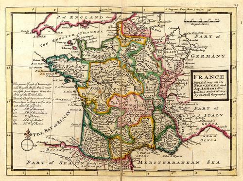 Art Prints of France, 1736 (5580022) by Herman Moll