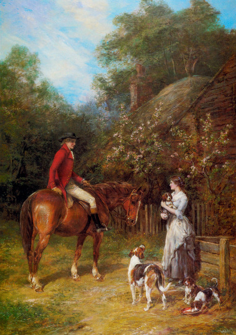 Art Prints of A Visit to the Kennels by Heywood Hardy