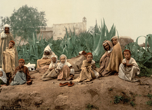 Art Prints of Group of Arabs, Algiers, Algeria (387091)