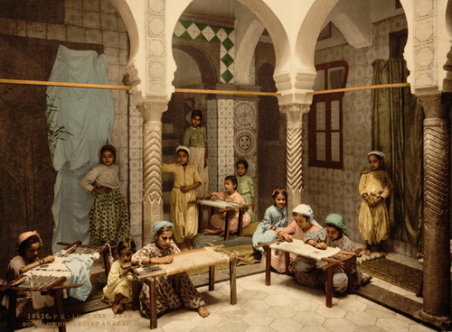 Art Prints of Luce Ben Aben School of Arab Embroidery, Algiers, Algeria (387102)
