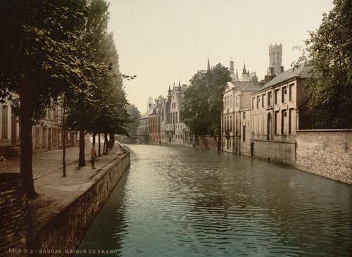 Art Prints of Maison du France, Bruges, Belgium (387153)