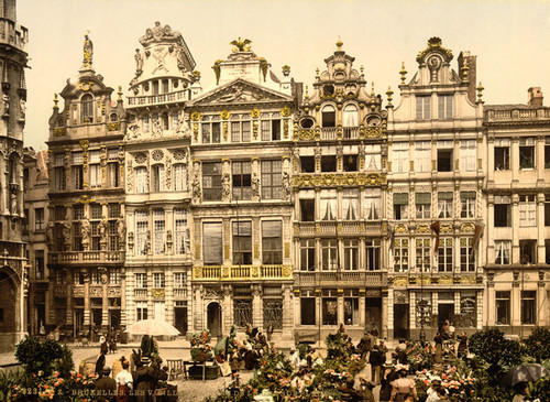 Art Prints of La Grande Place, the Old Houses, Brussels, Belgium (387174)