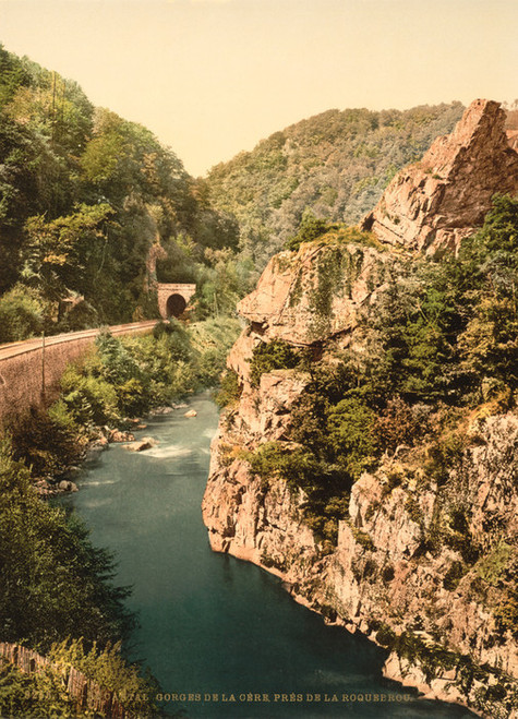 Art Prints of Le Cantal Gorge of the Cere River, Auvergne Mountains, France (386977)