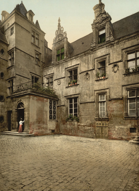 Art Prints of Ancient House of XVI Century, Caen, France (387014)