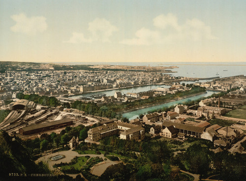Art Prints of General View from Fort du Roule, Cherbourg, France (387046)