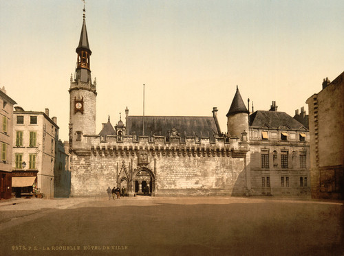 Art Prints of Hotel de Ville, La Rochelle, France (387316)