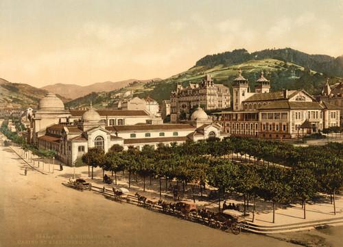 Art Prints of Casino and Baths, La Bourboule, France (387315)