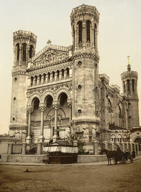 Art Prints of Basilica Fourviere Maine Entrance, Lyons, France (387336)