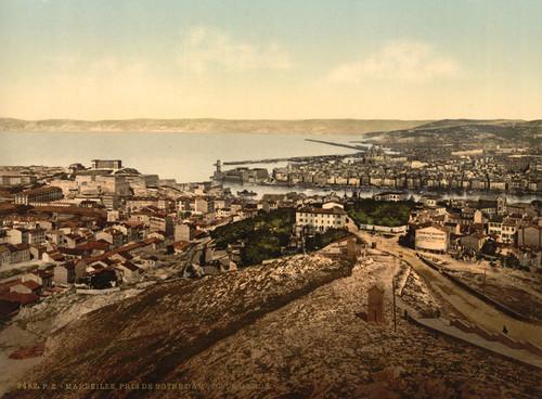 Art Prints of General View from Notre Dame de la Garde, Marseilles, France (387346)