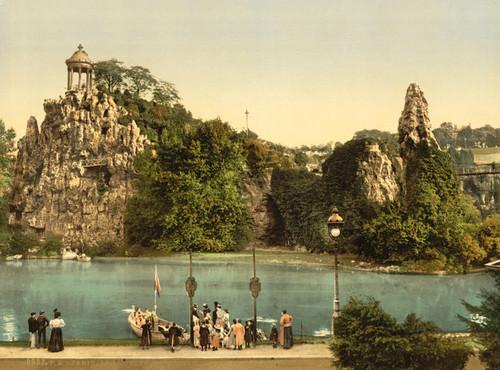 Art Prints of Les Buttes Chaumont, Paris, France (387459)