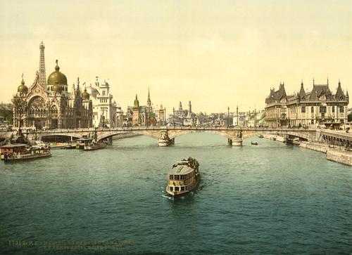 Art Prints of Pavilions of the Nations and Bridges, Paris, France (387463)