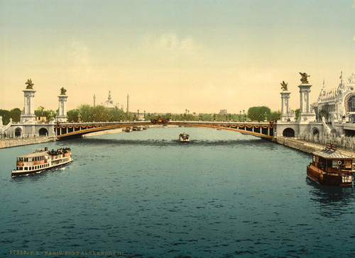 Art Prints of Alexandre III Bridge, Exposition Universelle, Paris, France (387474)