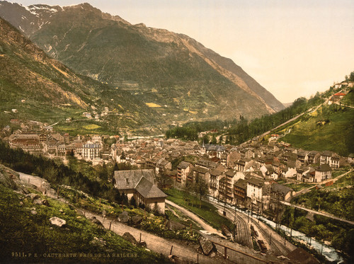 Art Prints of From la Railliere or Raillere, Cauterets, Pyrenees, France (387528)