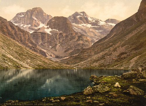Art Prints of Lake d'Estom, Cauterets, Pyrenees, France (387533)