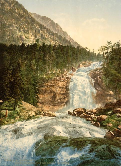 Art Prints of Pont d'Espagne, Upper Falls, Cauterets, Pyrenees, France (387532)