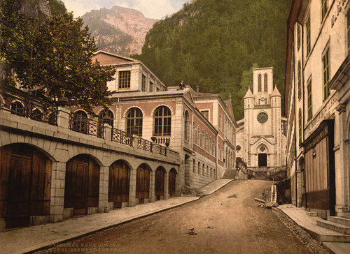 Art Prints of Establishment Thermal, Eaux Bonnes, Pyrenees, France (387537)
