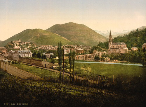 Art Prints of General View, Lourdes, Pyrenees, France (387547)