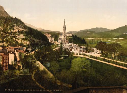 Art Prints of From Notre Dame, de Lourdes, Pyrenees, France (387548)
