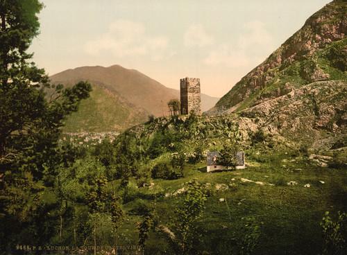 Art Prints of Castelvieil Tower, Luchon, Pyrenees, France (387559)