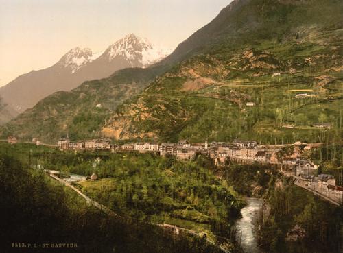 Art Prints of St. Sauveur, Pyrenees, France (387574)