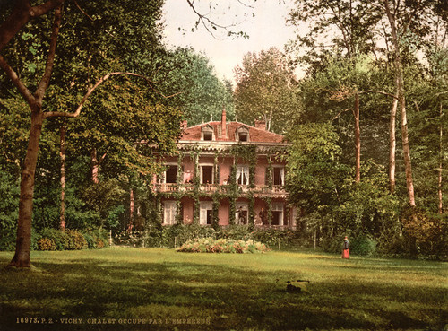 Art Prints of Cottage Occupied by L'Empereur, Vichy, France (387725)