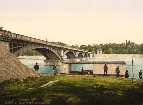 Art Prints of Bridge Over the Allier, Vichy, France (387736)