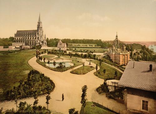 Art Prints of Notre Dame de bon Secours and Joan of Arc's Monument, Rouen France