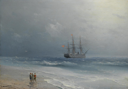 Art Prints of Calm Waters II by Ivan Konstantinovich Aivazovsky