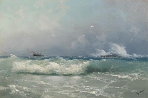 Art Prints of Biarritz by Ivan Konstantinovich Aivazovsky