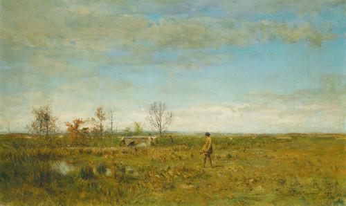 Art Prints of Hunters in Pont-Long by Ivan Pavlovich Pokhitonov