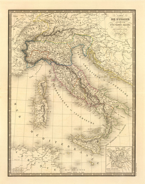 Art Prints of Ancient Italy, 1845 (2486010) by J. Andriveau Goujon