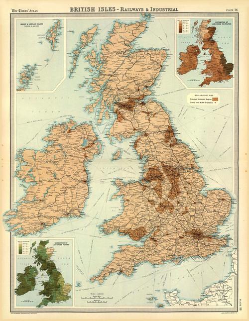 Art Prints of British Isles Industrial (2113017) by J.G., John Bartholomew and Son