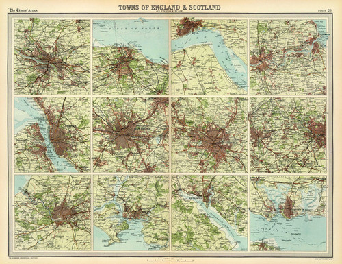 Art Prints of England and Scotland Towns (2113028) by J.G., John Bartholomew and Son