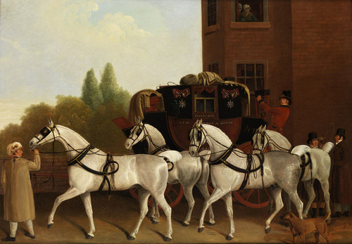 Art Prints of Edinburgh and London Royal Mail by Jacques-Laurent Agasse