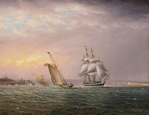 Art Prints of American Ship in Tagus River by James Edward Buttersworth