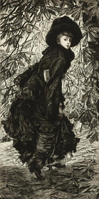 Art Prints of October by James-Jacques-Joseph Tissot